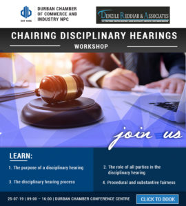 Workshop: Chairing Disciplinary Hearings - 25 July 2019