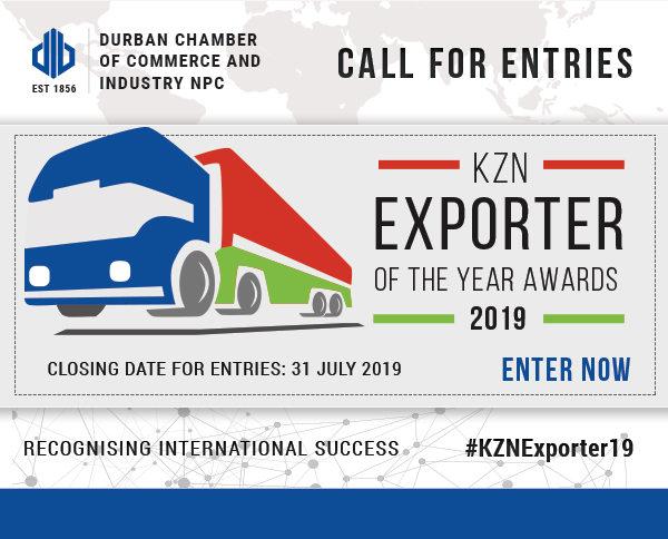 Call for Entries: 2019 KZN Exporter of the Year Awards