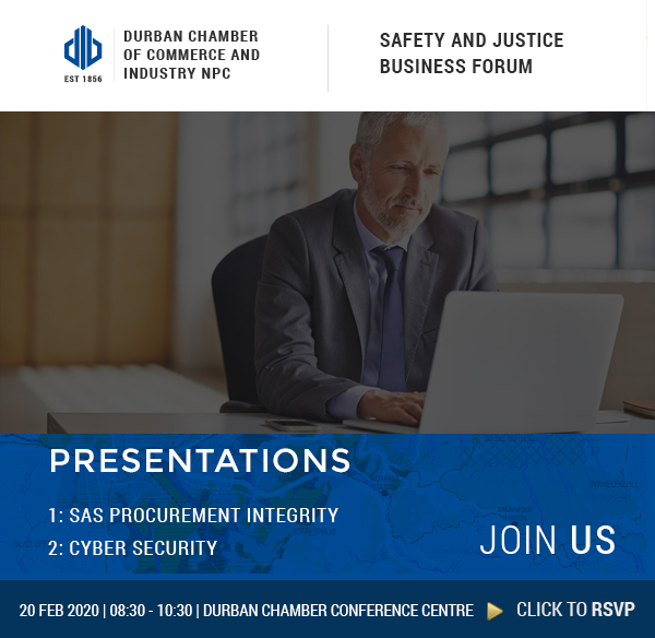 SAFETY AND JUSTICE BUSINESS FORUM – 20 February