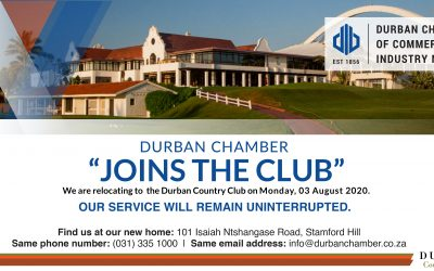 "DURBAN CHAMBER ""JOINS THE CLUB"""