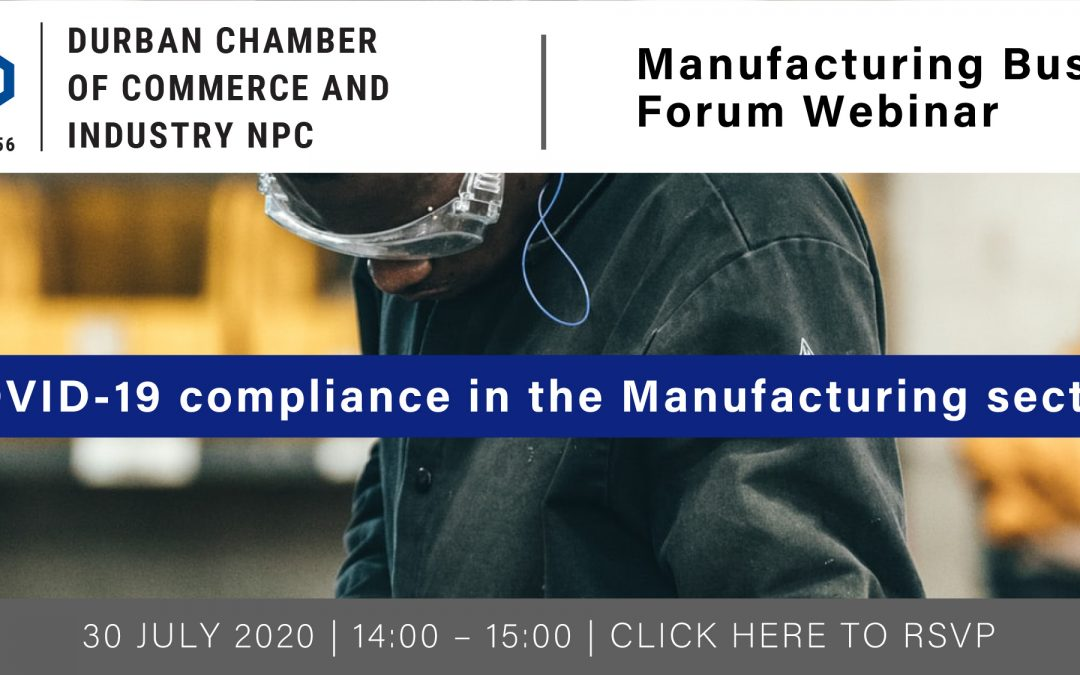Webinar: Manufacturing Business Forum – 30 July 2020