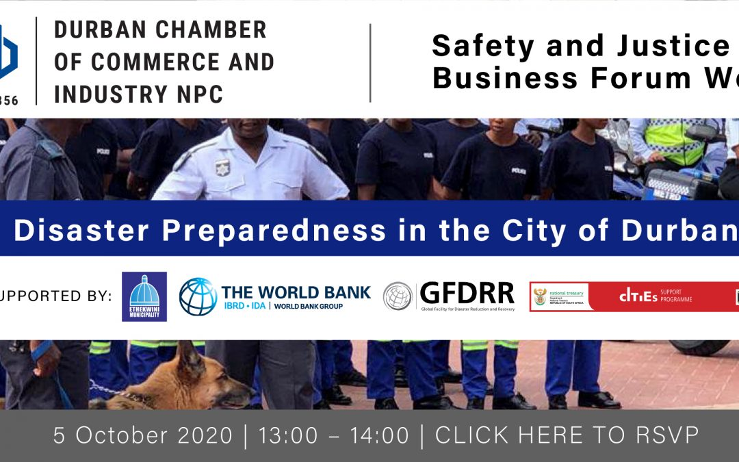 Webinar: Safety and Justice Business Forum – 5 October 2020