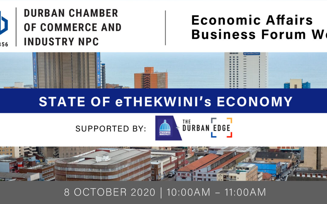 Webinar: Economic Affairs Business Forum – 8 October 2020